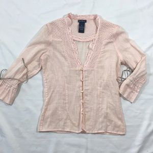 Earl Jean Blouse, size small, blush colored